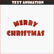 Merry Christmas tekstanimatie 3d model