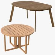 Mesas de jantar com pátio 3d model
