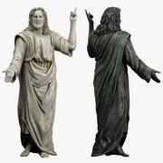 예수 동상 3d model