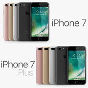 iPhone 7 e iPhone 7 Plus todas as cores 3d model