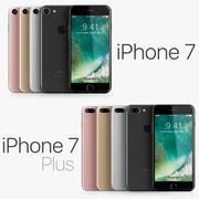 iPhone 7 e iPhone 7 Plus Tutti i colori 3d model