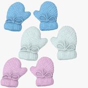Newborn Mittens Collection (2) 3d model