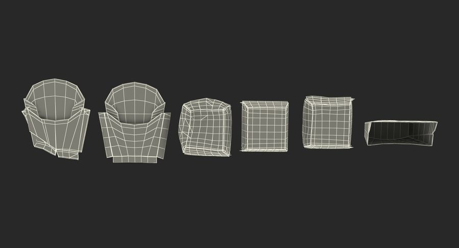 Food Containers Collection royalty-free 3d model - Preview no. 48