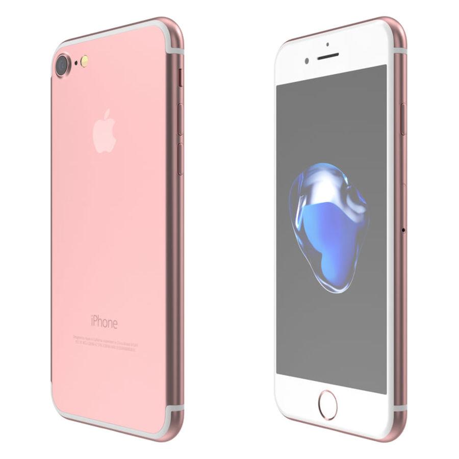 Colección Apple iPhone 7 y 7 Plus All Colors royalty-free modelo 3d - Preview no. 15