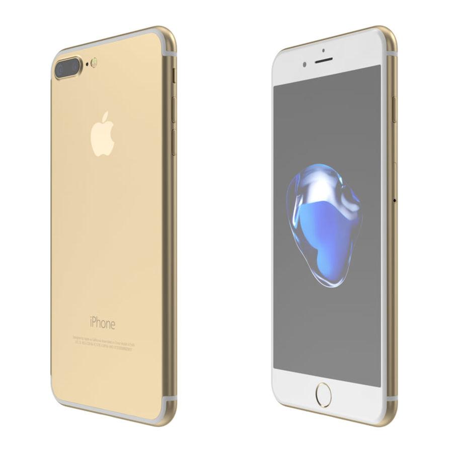 Colección Apple iPhone 7 y 7 Plus All Colors royalty-free modelo 3d - Preview no. 13