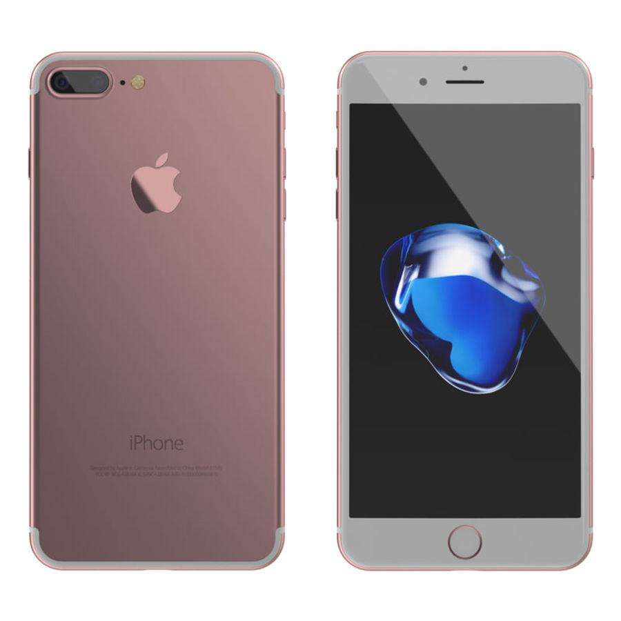 Colección Apple iPhone 7 y 7 Plus All Colors royalty-free modelo 3d - Preview no. 16