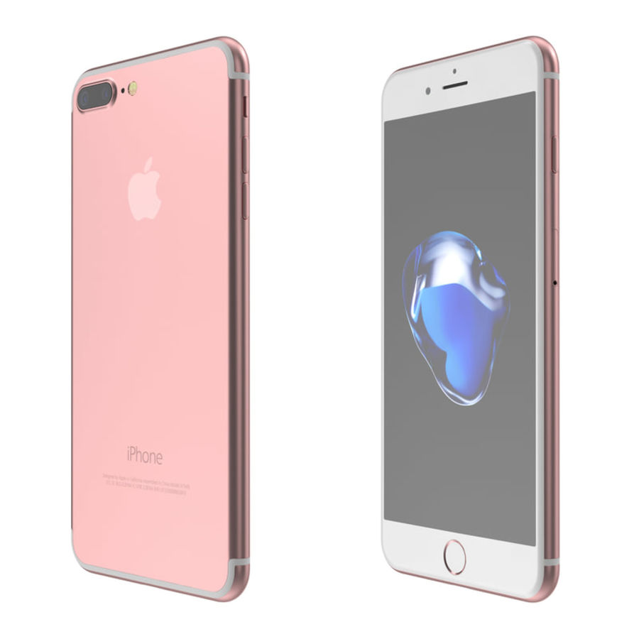 Colección Apple iPhone 7 y 7 Plus All Colors royalty-free modelo 3d - Preview no. 17