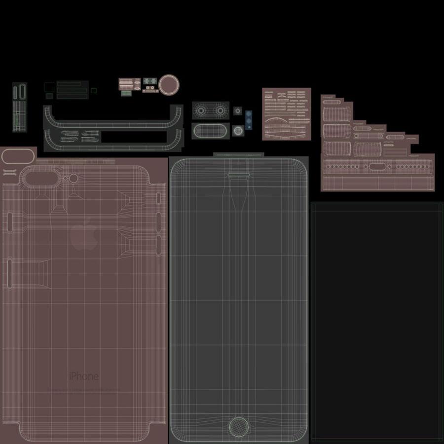 Colección Apple iPhone 7 y 7 Plus All Colors royalty-free modelo 3d - Preview no. 39