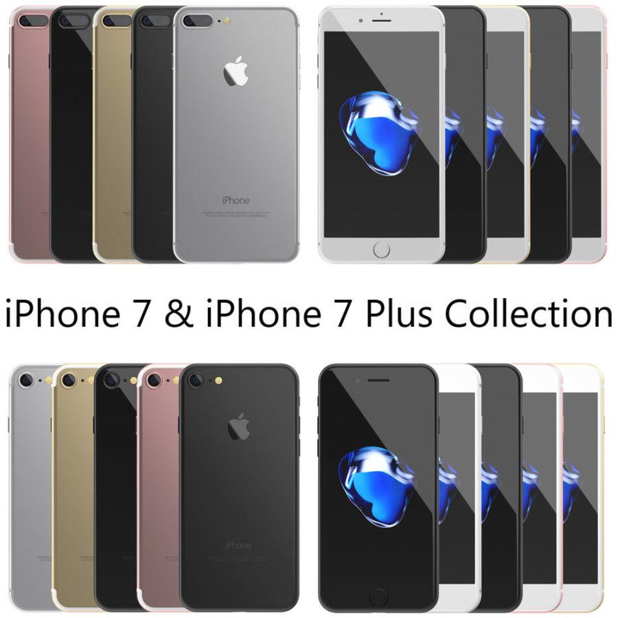 Colección Apple iPhone 7 y 7 Plus All Colors royalty-free modelo 3d - Preview no. 1