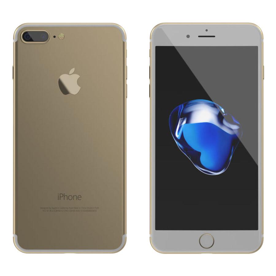 Colección Apple iPhone 7 y 7 Plus All Colors royalty-free modelo 3d - Preview no. 12