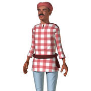 Indian Farmer Rigged 3d model