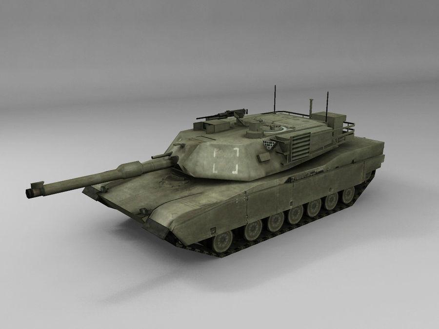 低聚艾布拉姆斯坦克 royalty-free 3d model - Preview no. 4
