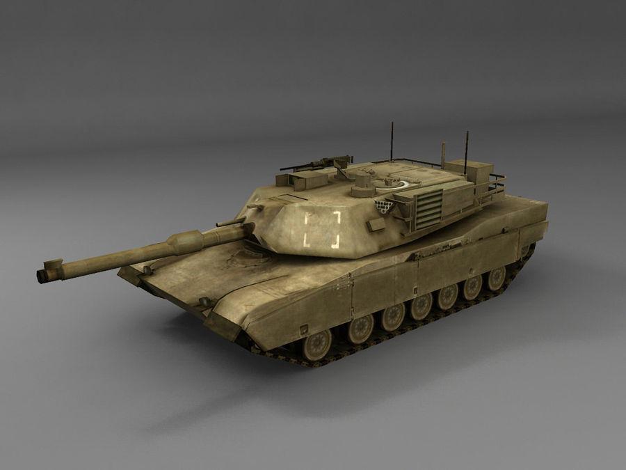 低聚艾布拉姆斯坦克 royalty-free 3d model - Preview no. 3
