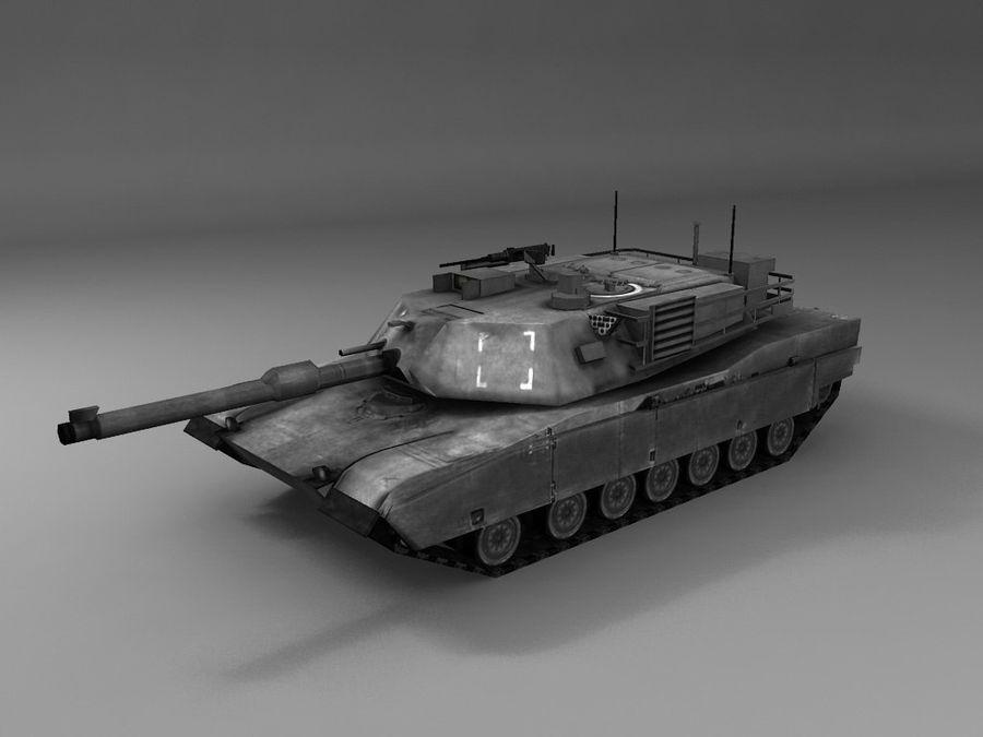 低聚艾布拉姆斯坦克 royalty-free 3d model - Preview no. 5