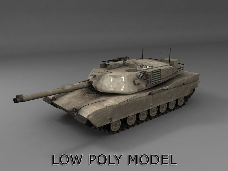 低聚艾布拉姆斯坦克 royalty-free 3d model - Preview no. 1