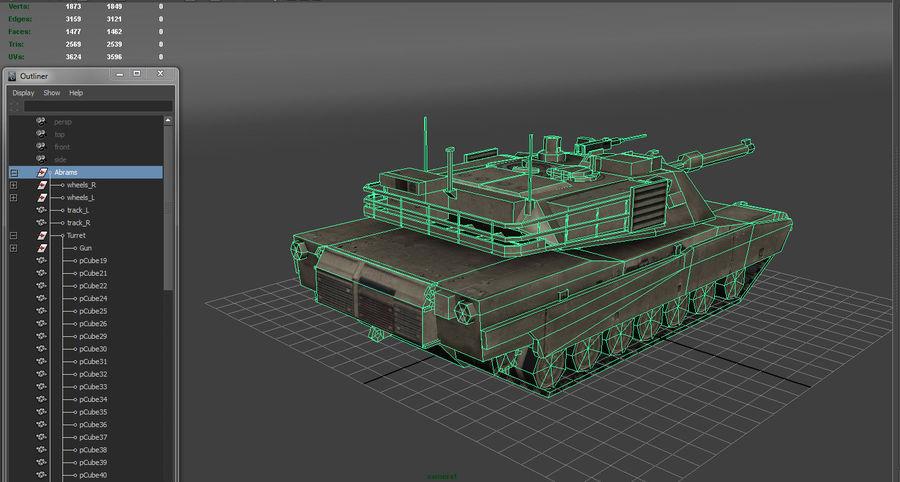 低聚艾布拉姆斯坦克 royalty-free 3d model - Preview no. 11
