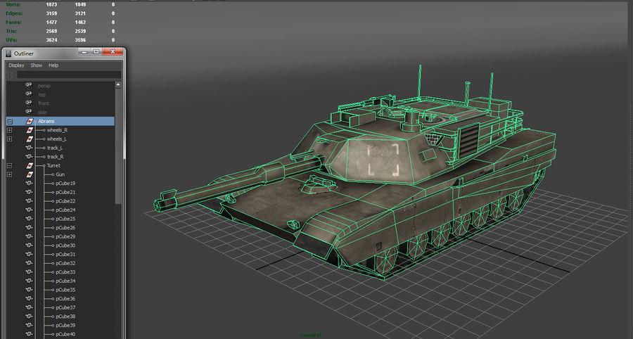 低聚艾布拉姆斯坦克 royalty-free 3d model - Preview no. 10