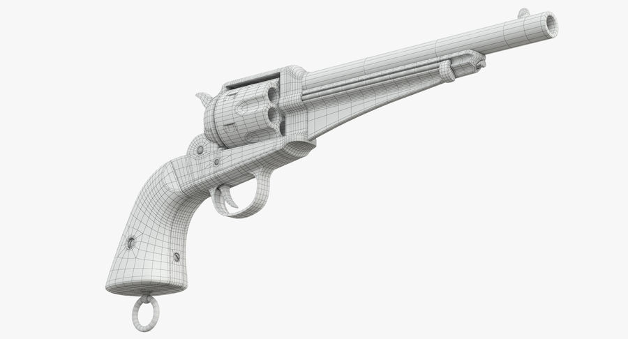 Cowboy Gun royalty-free 3d model - Preview no. 32
