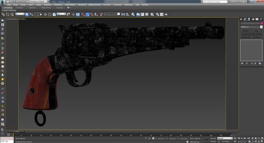 Cowboy Gun royalty-free 3d model - Preview no. 45