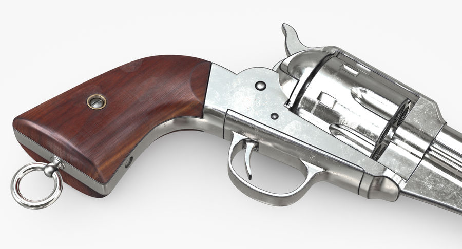Cowboy Gun royalty-free 3d model - Preview no. 25