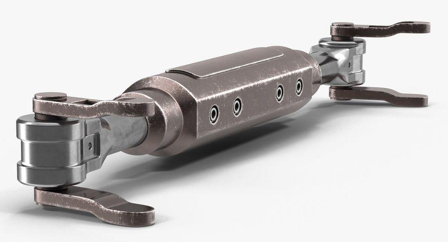 Гидравлические цилиндры с анодированным поршнем 3D-модель Sci-Fi royalty-free 3d model - Preview no. 15