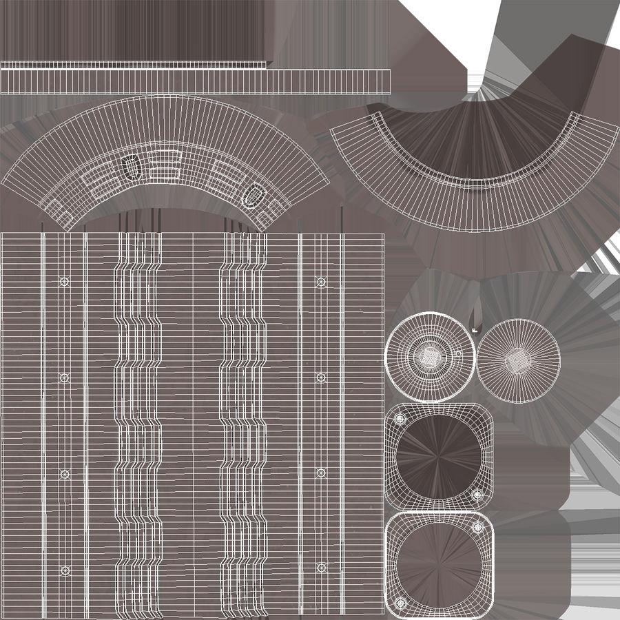 Гидравлические цилиндры с анодированным поршнем 3D-модель Sci-Fi royalty-free 3d model - Preview no. 33