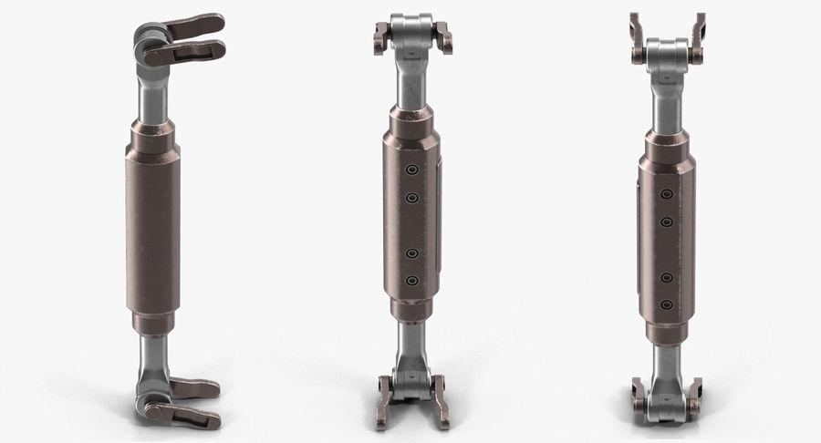 Гидравлические цилиндры с анодированным поршнем 3D-модель Sci-Fi royalty-free 3d model - Preview no. 13