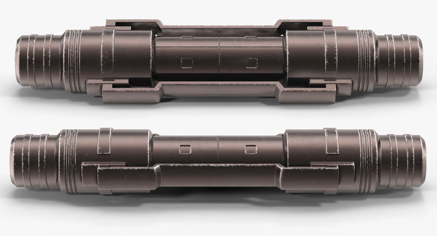 Гидравлические цилиндры с анодированным поршнем 3D-модель Sci-Fi royalty-free 3d model - Preview no. 8