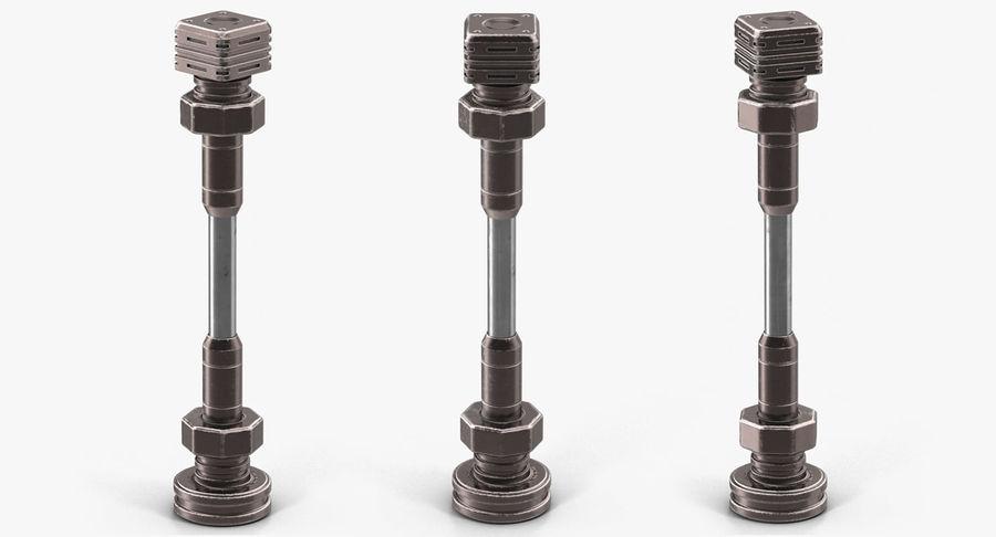 Гидравлические цилиндры с анодированным поршнем 3D-модель Sci-Fi royalty-free 3d model - Preview no. 28