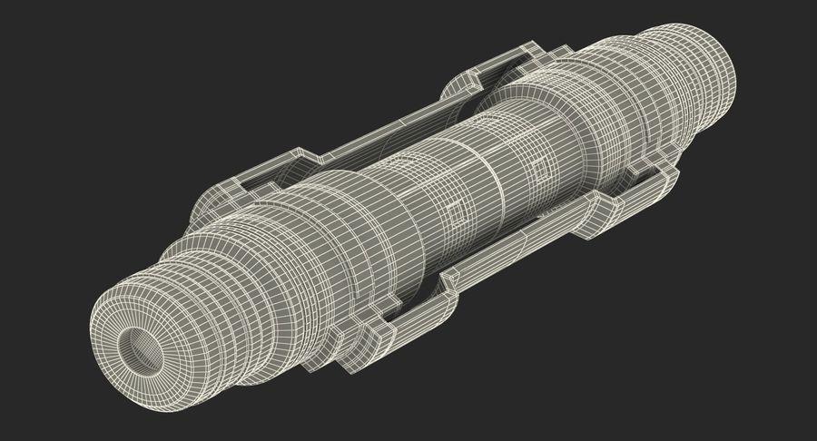 Гидравлические цилиндры с анодированным поршнем 3D-модель Sci-Fi royalty-free 3d model - Preview no. 36