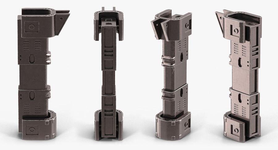 Гидравлические цилиндры с анодированным поршнем 3D-модель Sci-Fi royalty-free 3d model - Preview no. 25