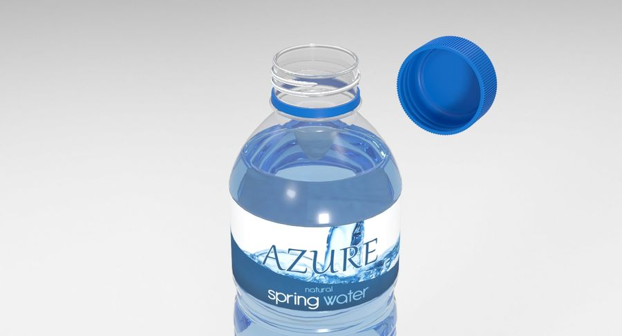 Bottled Water royalty-free 3d model - Preview no. 7