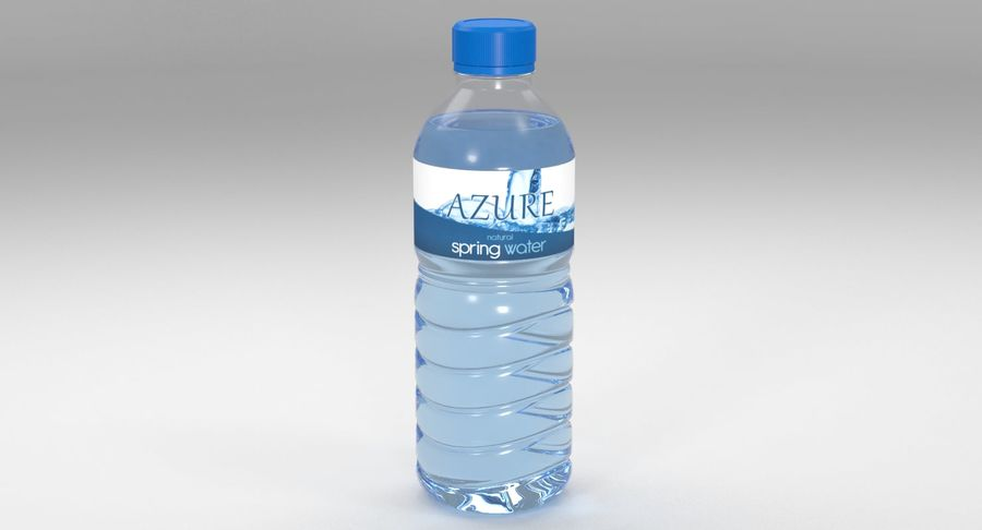 Bottled Water royalty-free 3d model - Preview no. 3