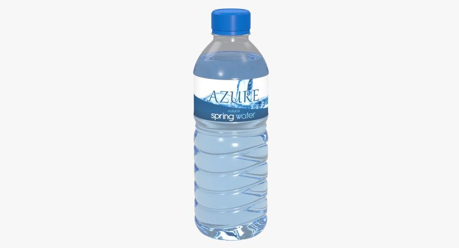 Bottled Water royalty-free 3d model - Preview no. 2