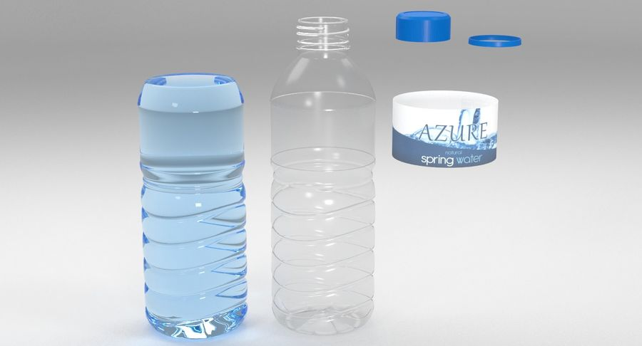 Bottled Water royalty-free 3d model - Preview no. 9