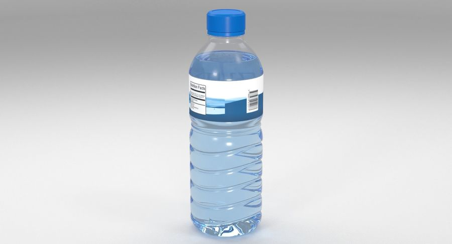 Bottled Water royalty-free 3d model - Preview no. 4