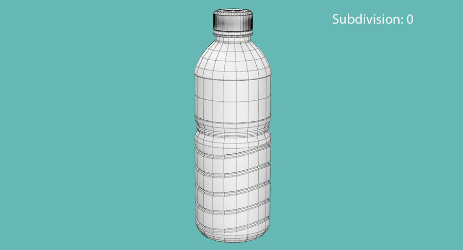 Bottled Water royalty-free 3d model - Preview no. 10