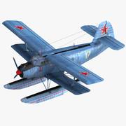 Lowpoly军用水上飞机 3d model