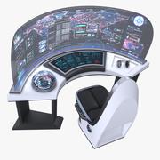 Sci-fi Command Panel Console 3d model