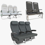 Economy Seat Collection 3d model