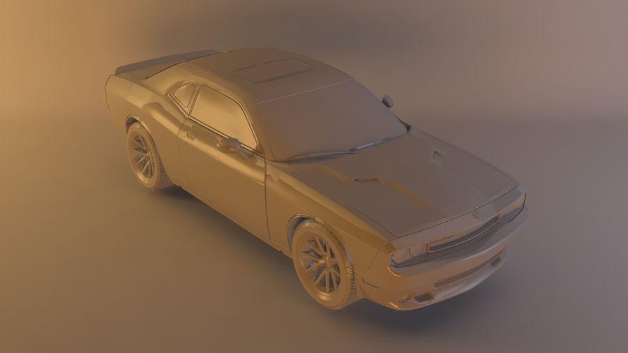 Dodge Challenger SRT8 09 royalty-free modelo 3d - Preview no. 9