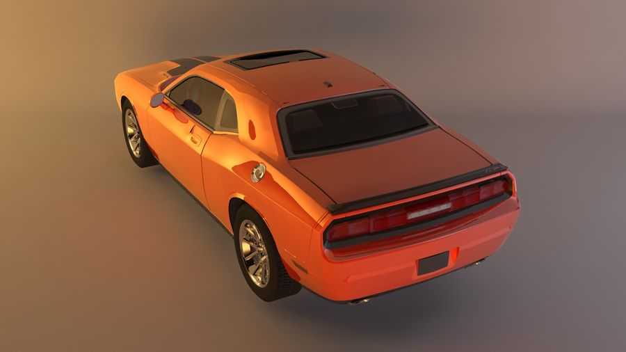 Dodge Challenger SRT8 09 royalty-free modelo 3d - Preview no. 3