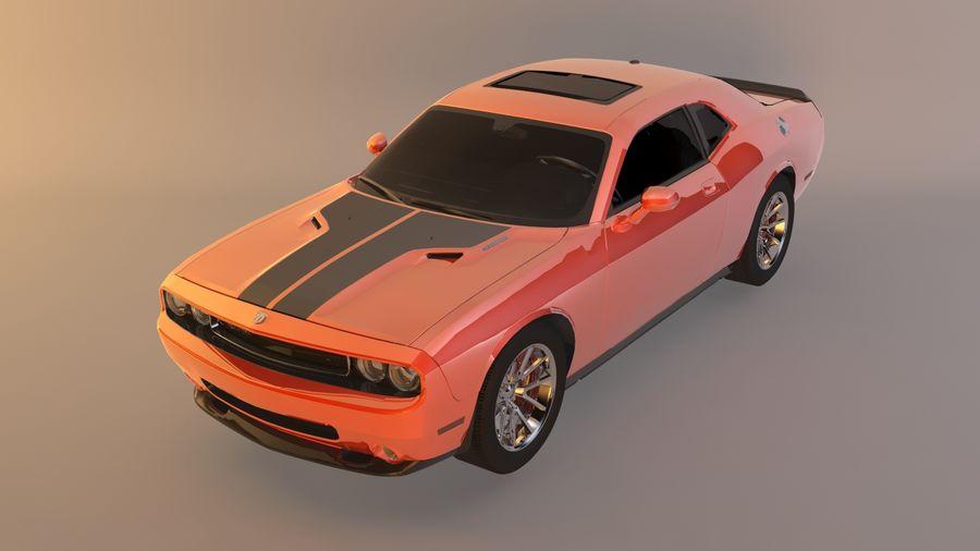 Dodge Challenger SRT8 09 royalty-free modelo 3d - Preview no. 1