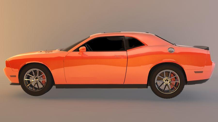 Dodge Challenger SRT8 09 royalty-free modelo 3d - Preview no. 2