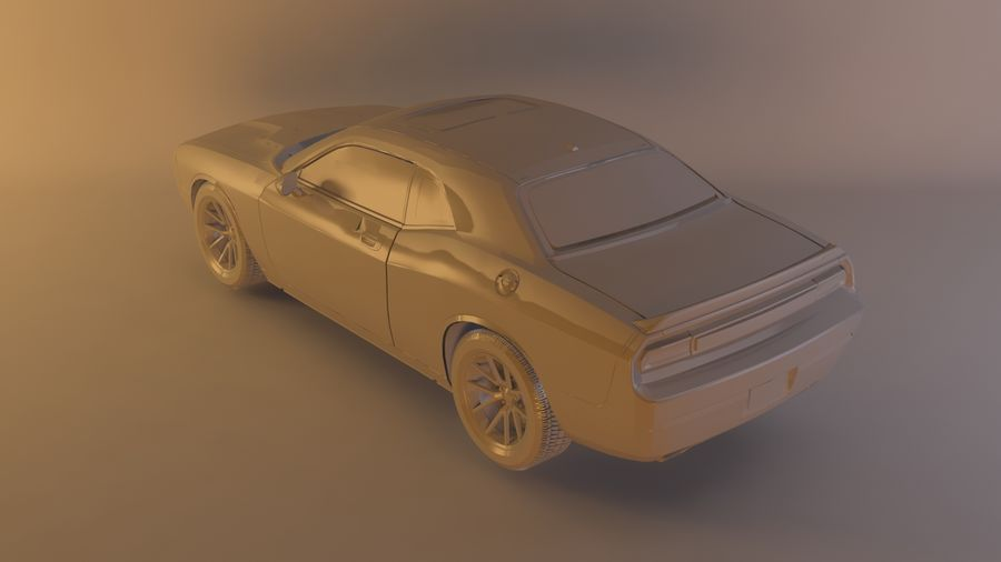 Dodge Challenger SRT8 09 royalty-free modelo 3d - Preview no. 10