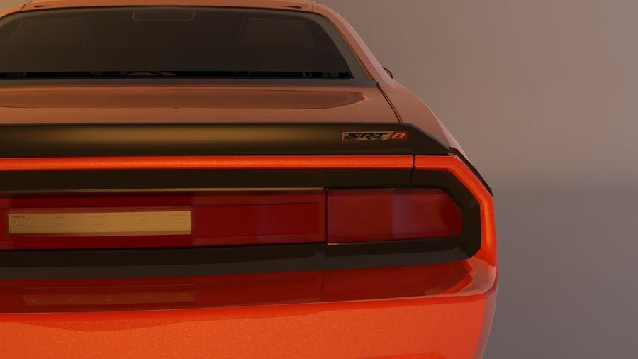 Dodge Challenger SRT8 09 royalty-free modelo 3d - Preview no. 8