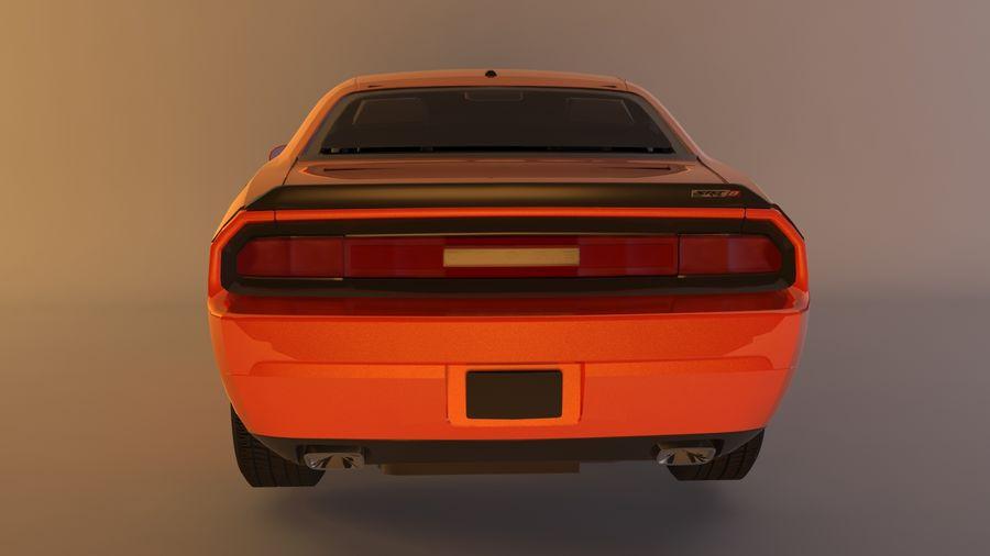 Dodge Challenger SRT8 09 royalty-free modelo 3d - Preview no. 4