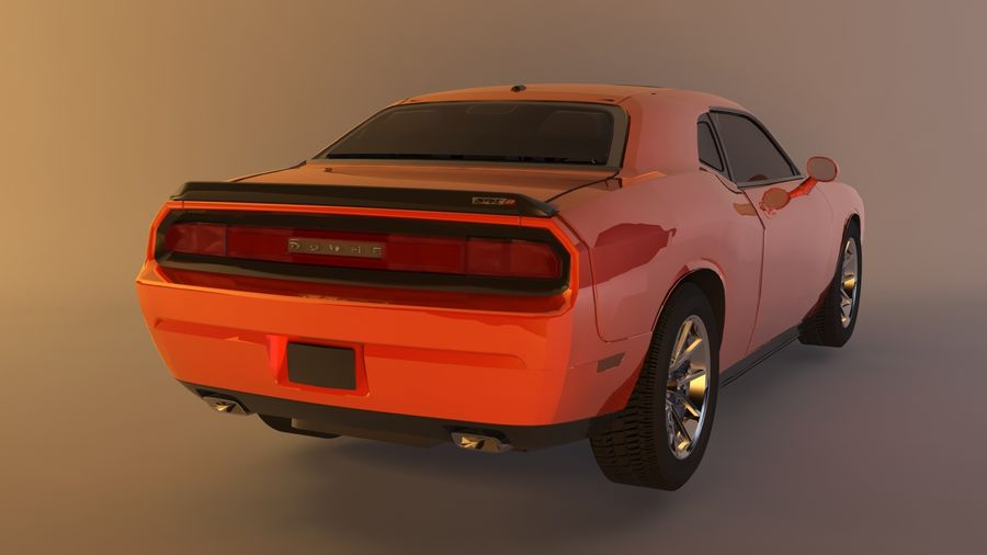 Dodge Challenger SRT8 09 royalty-free modelo 3d - Preview no. 5