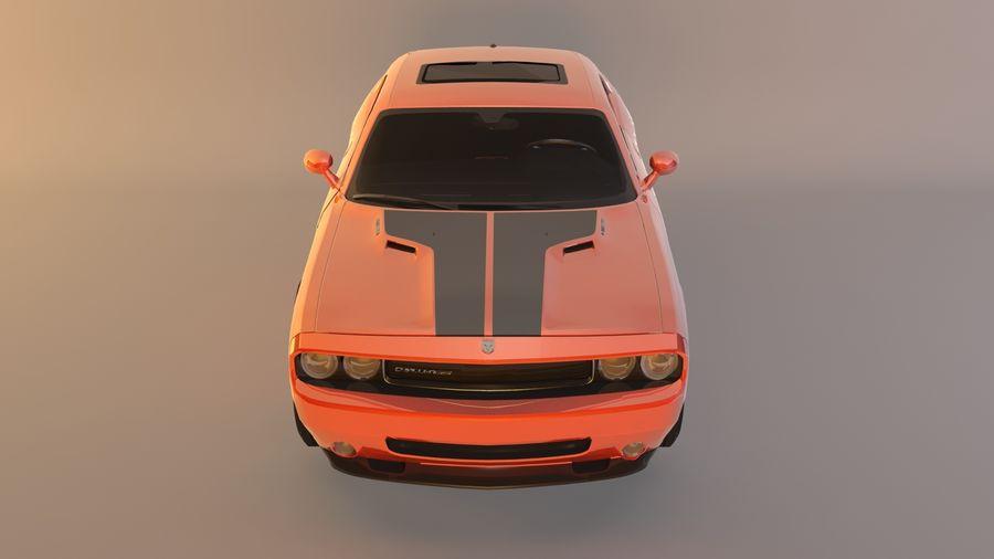 Dodge Challenger SRT8 09 royalty-free modelo 3d - Preview no. 11