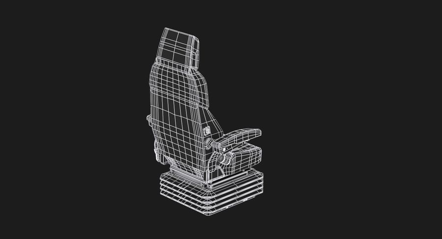 Vehicle Seat royalty-free 3d model - Preview no. 12
